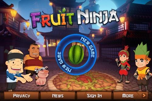 لعبة تقطيع الفواكه فروت نينجا Fruit Ninja للايباد - تحميل افضل العاب مجانا للايباد