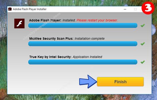 هكذا تم تثبيت ادوبي فلاش بلاير على الكمبيوتر