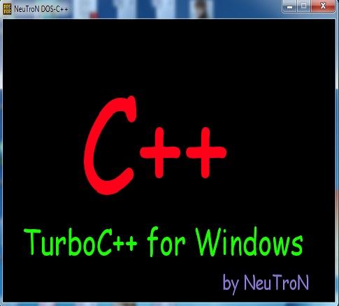 تحميل برنامج توربو سي ++Turbo C لويندوز فيستا,7,8