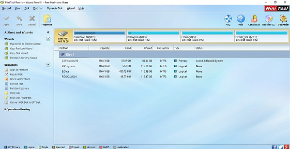 تحميل برنامج تقسيم الهارد بدون فورمات مجانا رابط مباشر Download MiniTool Partition Wizard Free for Computer