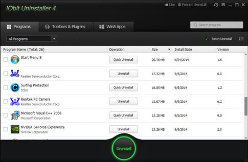 تحميل برنامج حذف البرامج من جذورها IObit Uninstaller عربي مجانا