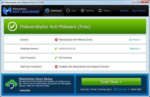 تحميل مكافح الفيروسات الخبيثة Marewarebytes Anti-Maleware