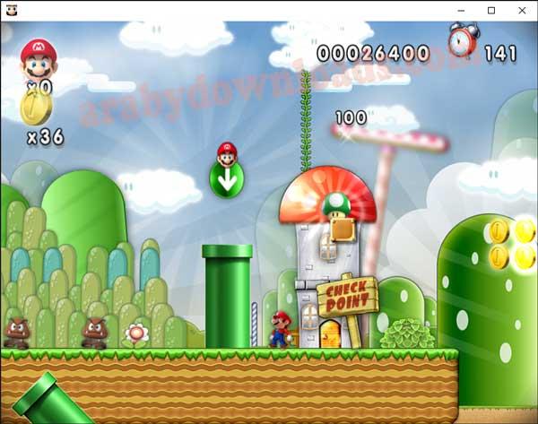 لعبة ماريو بتاعة الاتاري للكمبيوتر