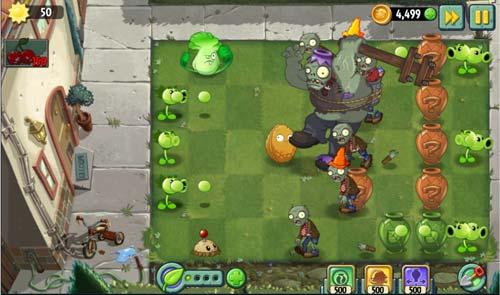 تحميل لعبة النباتات ضد الزومبي 2 كاملة مجانا Plants vs Zombies 2 Full Free apk