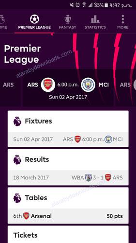 معرفة مواعيد مباريات الدوري الانجليزي