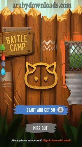 تحميل لعبة معسكر القتال للاندرويد باتل كامب Battle Camp