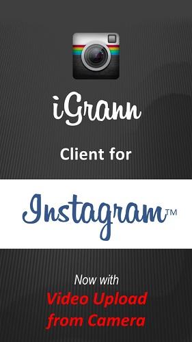 تحميل برنامج انستقرام للبلاك بيري Instagram الانستقرام تعديل الصور iGrann for Blackberry