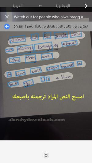 مسح النص لترجمته