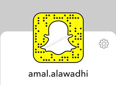 حساب الفنانة والمذيعة الكويتية في السناب الشات امل العوضي.