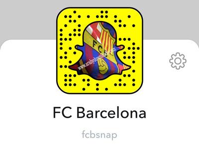 حساب نادي برشلونة الاسباني على السناب شات.