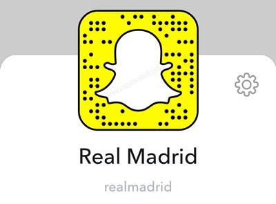 حساب نادي ريال مدريد الاسباني في سناب شات.