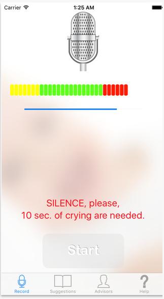 تحميل برنامج لمعرفة سبب بكاء الطفل للايفون Cry Translator