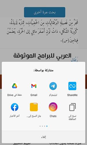 خيارات استخدام قاموسالمعاني عربي عربي