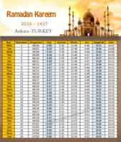 امساكية رمضان انقرة تركيا 2016 - Imsakia Ramadan Ankara Turkey