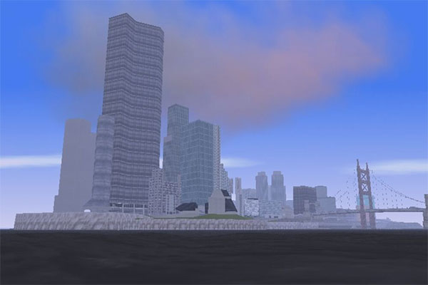 المناطق الثلاثة في خريطة GTA 3 النسخة الاخيرة