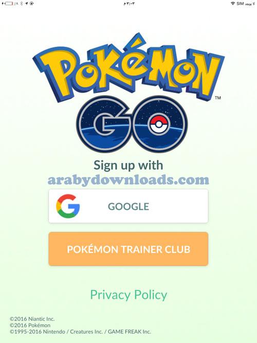 تحميل لعبة بوكيمون قو للايفون Download Pokemon Go