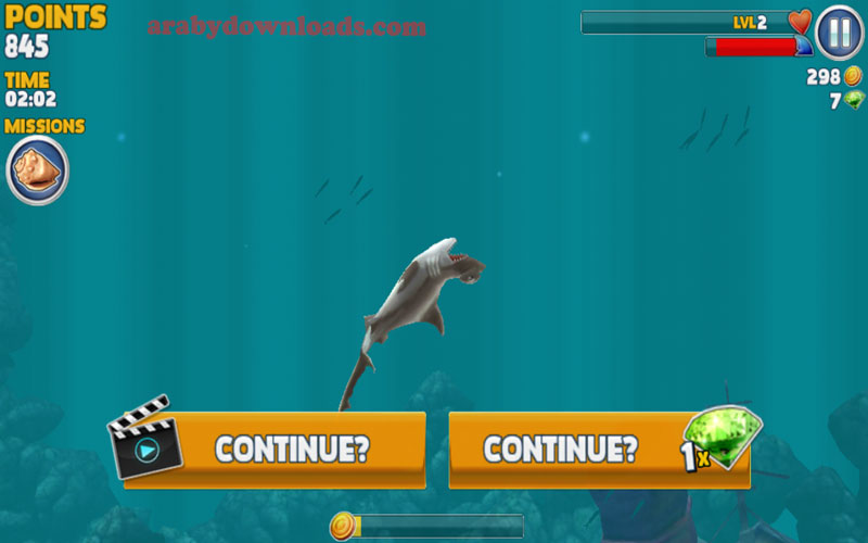 تحميل لعبة القرش الجائع للسامسونج - موت سمك القرش الجائع لعدم مواصلة الافتراس