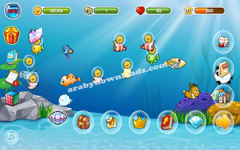 لعبة السمكة السعيدة رموز المكافئة