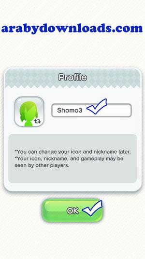 كتابة اسم المستخدم، واختيار صورة شخصية - لعبة mario