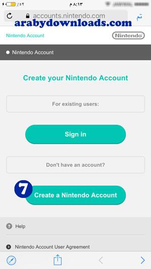 انشاء حساب نينتيندو2 - ماريو