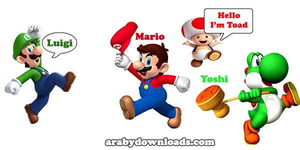 شخصيات لعبة ماريو - mario run ايفون