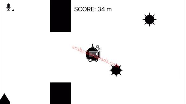 مرحلة السباحة بالصراخ داخل لعبة سكريم قو على الايفون 1