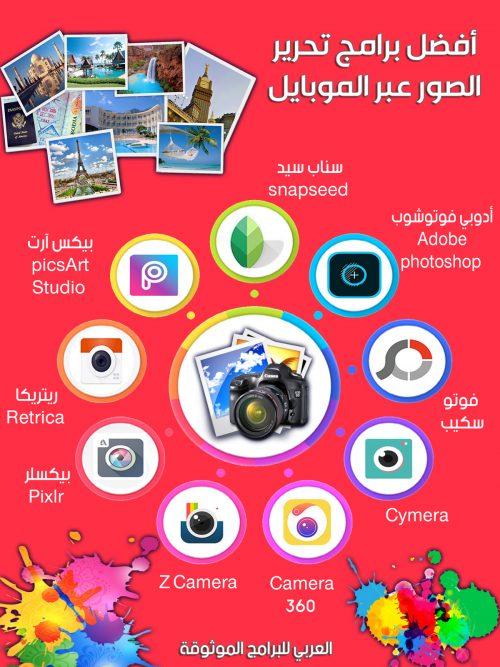 افضل و اشهر برامج تعديل الصور للاندرويد مجانا - Best Photo Editor for Android