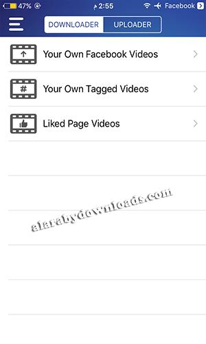 تحميل فيديو من الفيس بوك download video for iphone