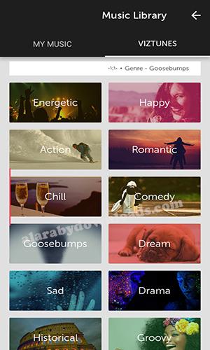 تحميل برنامج Vizmato محرر الفيديو الاحترافي تطبيق مونتاج الفيديوهات القصيرة للأندرويد