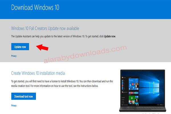تحديث ويندوز 10 الاصدار الجديد للكمبيوتر Fall Creator Update و أبرز مزايا التحديث الجديد