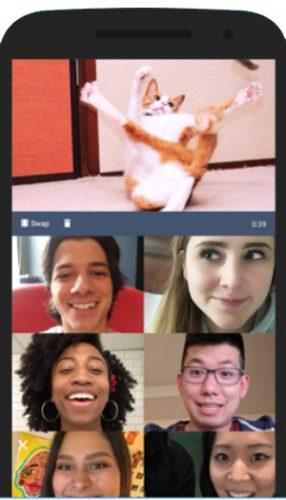اثناء مشاهدة مقطع كوميدي مع الاصدقاء في برنامج cabana للجوال _ تطبيق لمشاهدة الافلام اون لاين