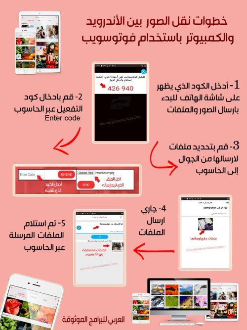 تحميل برنامج فوتو سويب FotoSwipe لتبادل ومشاركة الصور والملفات بين الكمبيوتر والجوال