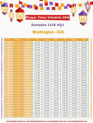 تحميل امساكية رمضان 2018 واشنطن امريكا Ramadan Washington