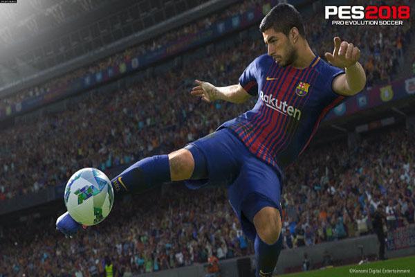 محاكاة فعلية لنجوم لعبة بيس 2018 في فريق برشلونة الأسباني