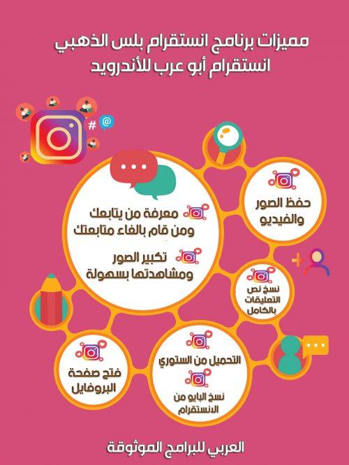 تحميل برنامج انستقرام بلس الذهبي أبو عرب أحدث اصدار 71.00 للموبايل