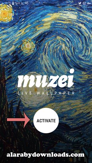 واجهة برنامج muzei للموبايل - تحميل برنامج خلفيات للاندرويد