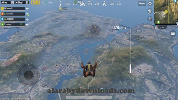 عند اسقاط المحاربين من الطائرة للبدء بالقتال - تنزيل لعبة ببجي للموبايل مجانا