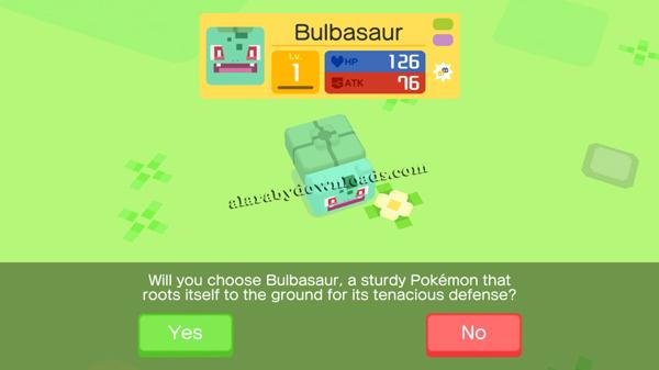 اختيار البوكيمون الخاص بك في لعبة pokemon quest للايفون