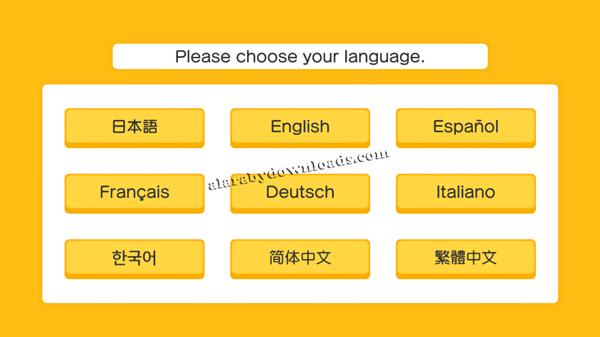 اختيار اللغة التي سوف تستخدمها في لعبة بوكيمون كويست لعبة البحث عن الكنز