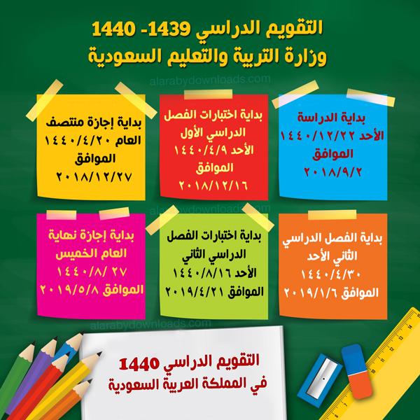 تحميل التقويم الدراسي ١٤٤٠ وزارة التربية والتعليم السعودية التقويم الدراسي الجديد 2019