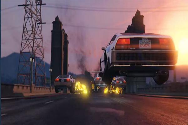 صور من لعبة حرامي السيارات قراند 5