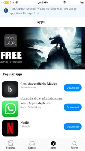 مجموعة البرامج في متجر الارنب الصيني الجديدة TutuApp Lite