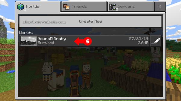 اختر العالم الجديد على Minecraft للايفون