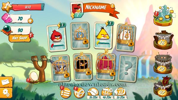 واجهة لعبة Angry Birds للايفون الرئيسية ، تحميل لعبة انجري بيرد للايفونAngry Birds 2