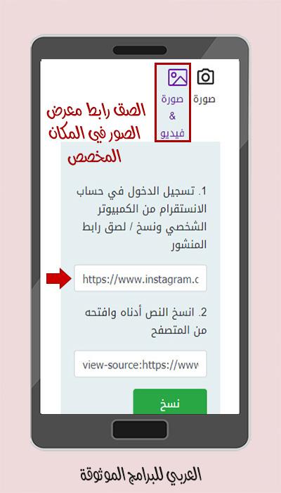 تنزيل فيديو أو معرض صور من حساب خاص عبر موقع حفظ انستقرام