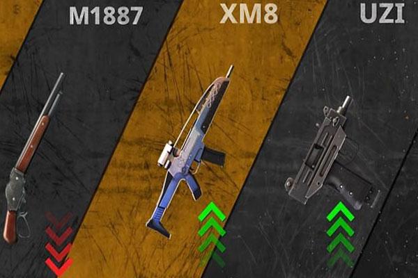 الاسلحة القتالية في تحديث فري فاير برابط مباشر للاندرويد