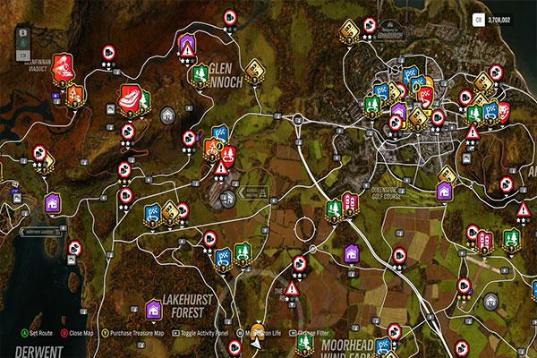 تحميل خريطة بالاماكن المميزة في Forza Horizon 4 مجانا برابط مباشر