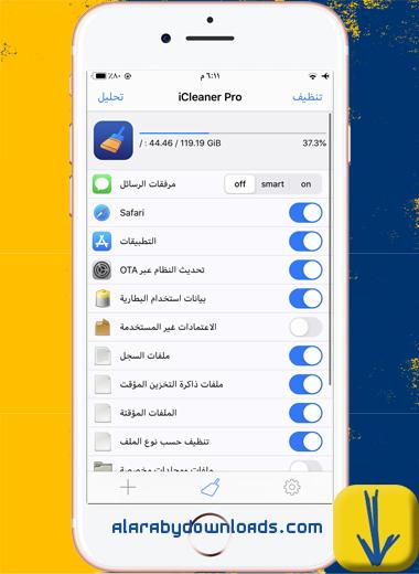 الواجهة الرئيسية في أداة iCleaner Pro